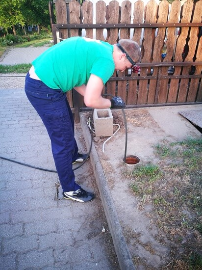 alapvezeték womás tisztítása – Felcsút
