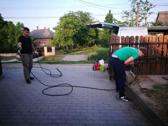 Gerincvezeték (alapvezeték) womás tisztítása