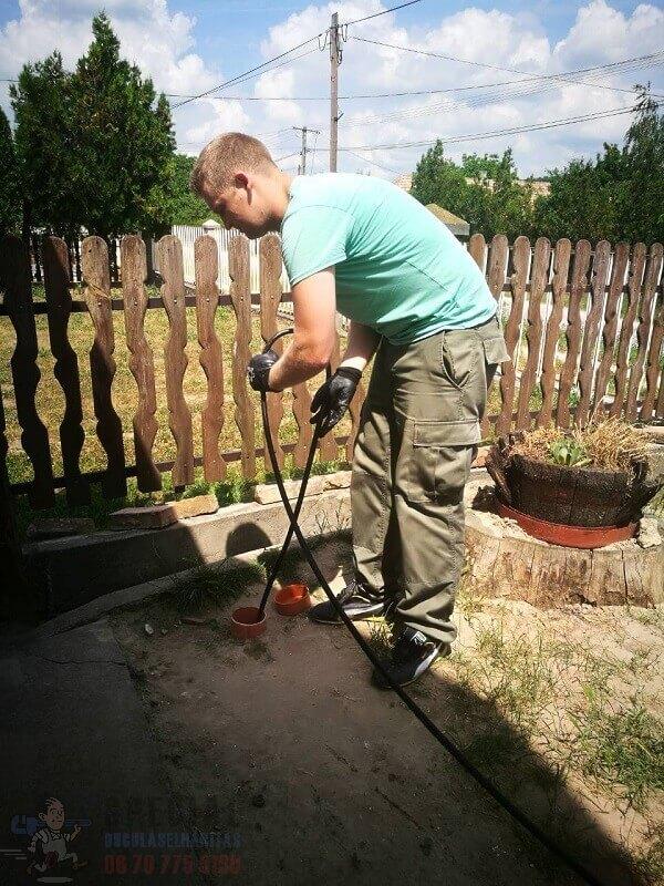 alapvezeték womás tisztítása, kamerás csővizsgálat – Felcsút
