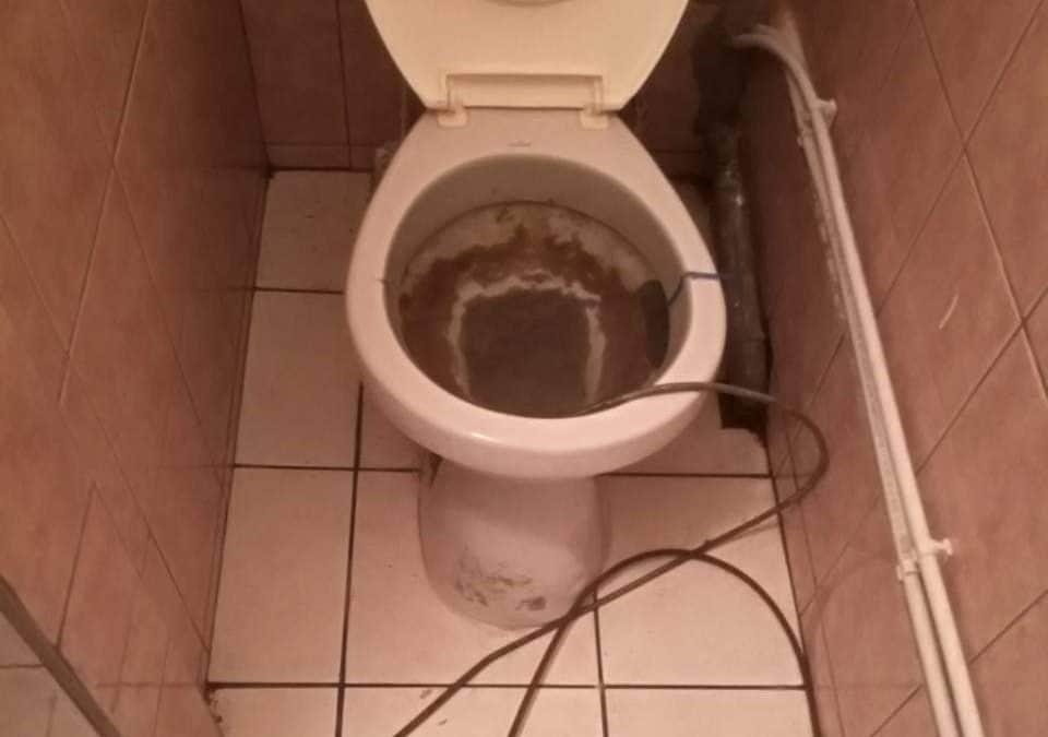 Beszorult spirál a WC-ben